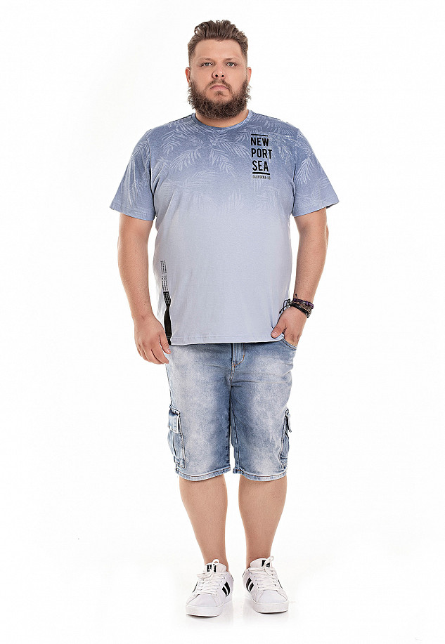 Camiseta Masculina Plus Estampa Frontal