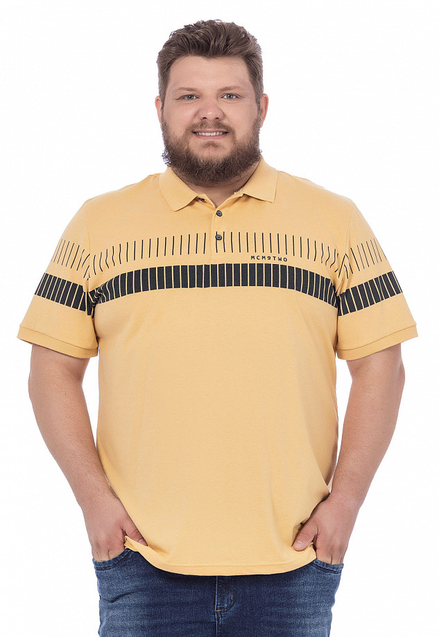 Polo Masculina Estampa Horizontal